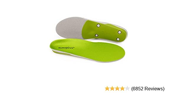 b7a8152cea Amazon.com: Superfeet GREEN Insoles, Professional-Grade High Arch Orthotic  Insert for Maximum Support, Unisex, Green: Shoes