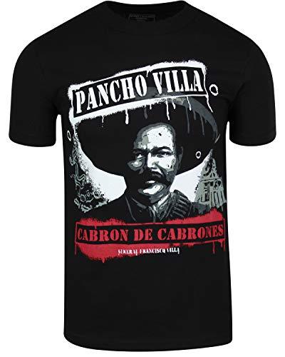 ShirtBANC Original Mexican American Inspired Mens Shirts (Pancho Villa, 3XL)