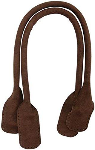Somerset Designs Suede Tote Handles, 24-Inch, Dark Brown, 2-Pack (Tote Somerset)