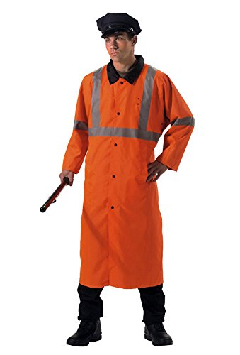- Rothco Reversible Rain Parka Full Length Orange/Black XL