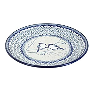 Blue Rose Polish Pottery Bluebird Dinner Plate