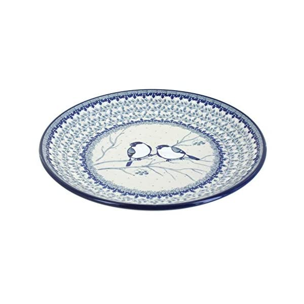 Blue Rose Polish Pottery Bluebird Dinner Plate