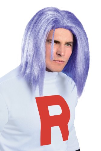 Rubie's Pokémon James Adult Wig, Purple, One Size ()