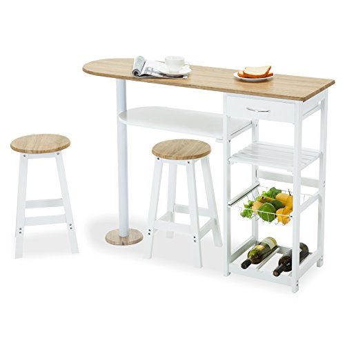 Family Kitchen Island Cart Trolley Portable