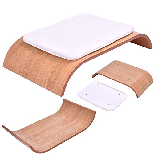 Wood Pet Furniture Bed Cat Dog Mat Plush Warm Pad Puppy Kennel Nap w/ - Fit In Merced Shape