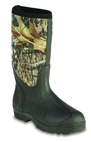 Ranger Outdoor Comfort Series Classic 15'' Men's Waterproof Boots, Black w/Mossy Oak Breakup (67503) by Ranger