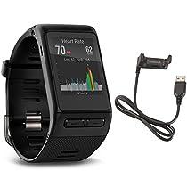 Garmin Vivoactive HR GPS Smart Watch, Regular fit - Black w/ Charging cable