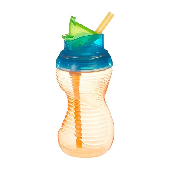 Munchkin 10 Ounce Mighty Grip Flip Straw Cup (Colours May Vary)