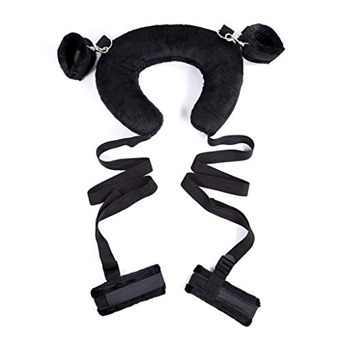 CXQ Women's Health SM Binding Pillow Round Handcuffs Fun Toys (Color : Black)