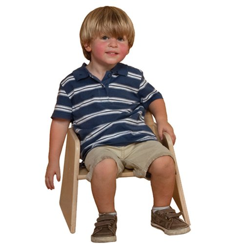 "Wood Designs Stackable Woodie Toddler Chair, 7"" High Seat, Set of 2"