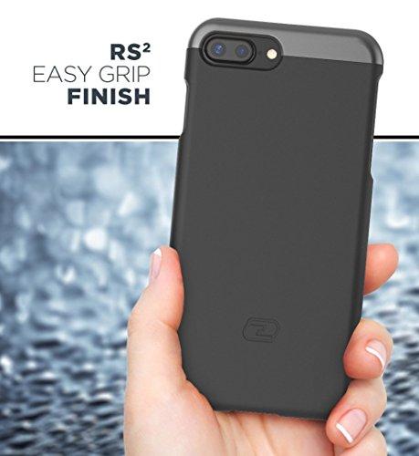 "iPhone 7 Plus (5.5"") Belt Case, Encased (Thin Armor) Hybrid Shell w/Secure-fit Holster Clip (Jet Black)"