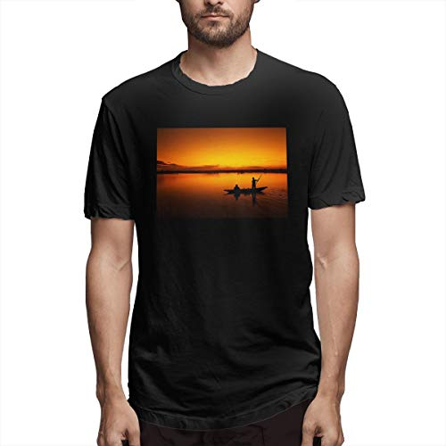 Jully Satt The Rodfather Go Fishing Fisherman Fish Men's Printing Sunshine Type Black Customised T-Shirts Love Fishing XL