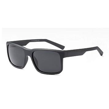 SYQA Gafas de Sol cuadradas Negras Mate Hombres polarizadas ...