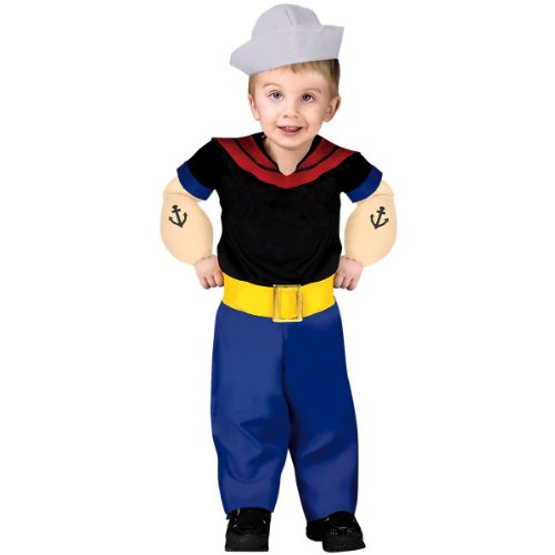 Popeye Costume - Toddler Large ()