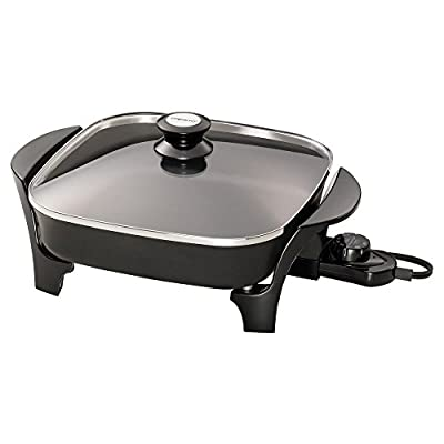 Presto 06626 11-inch Electric Skillet with Glass Lid