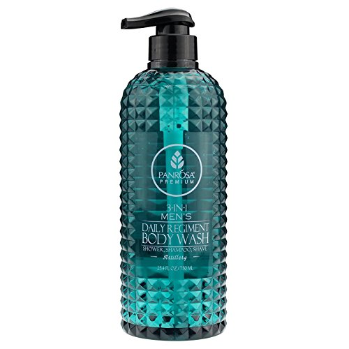 Panrosa Premier 25.4 FL oz 3-in-1 Men's Regiment Daily Body Wash, for Shower, Shampoo and Shave. Proudly Made In USA (Artillery) ()