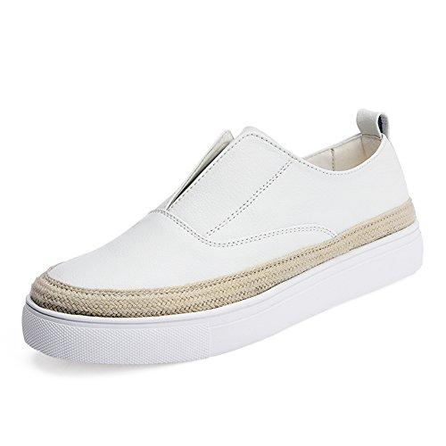 las mujeres zapatos de pescador/Zapatos planos/Paja y suave fondo Corea Lok Fu zapatos/Otoño zapatos negro A