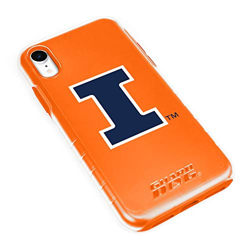 Latest Guard Dog Illinois Fighting Illini Hybrid Case for iPhone XR - Clear with Orange orange iphone xr case 3