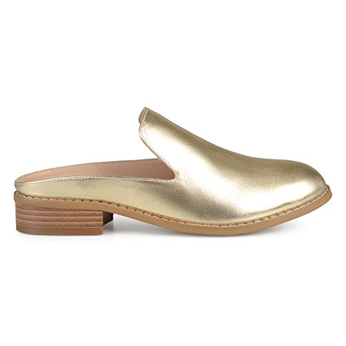 Mules On Gold Co Faux Slide Sole Comfort Leather Heel Brinley Womens Stacked watUv