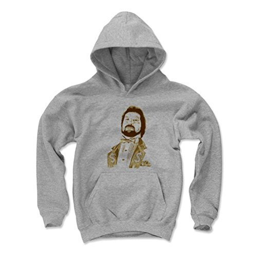 500 Level Ted Dibiase Kids Youth Hoodie XL Gray - Ted Dibiase Million Dollar Man D - Officially Licensed by Pro Wrestling Tees by 500 Level