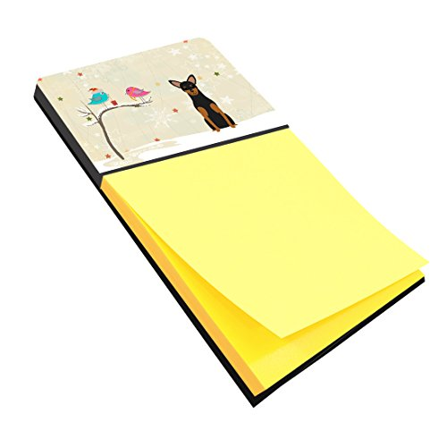 Caroline's Treasures Christmas Presents between Friends Manchester Terrier Sticky Note Holder, Multicolor (BB2500SN)