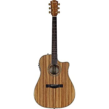 fender cd 220ce all zebrano dreadnought acoustic electric guitar musical instruments. Black Bedroom Furniture Sets. Home Design Ideas