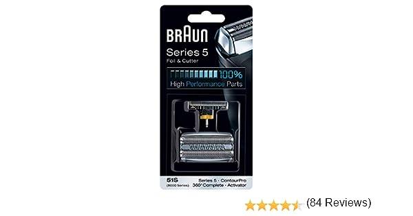 Braun - Láminas 51S - Láminas de recambio para afeitadoras Series ...