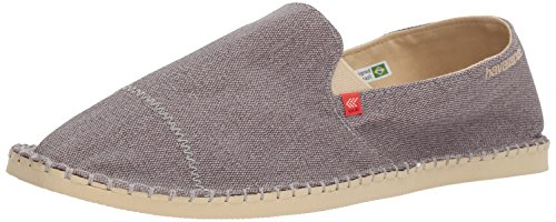 Havaianas Men's Origine Yacht Cal Espadrille Black,Grey,43 BR (11 M US)