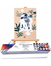 Cartoon Robot DIY Painting by Numbers Kit Paint by Numbers On Canvas for Adults Beginners 30x45cm Frameless