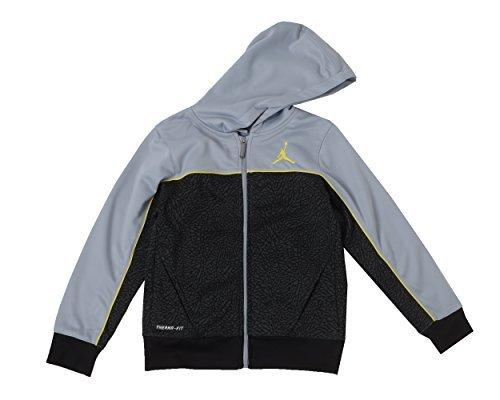 Jordan Big Boys Therma-fit Camo Printed Full-zip Jacket (L(12-13YRS), Wolf Grey/Yellow)