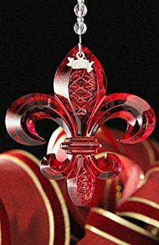 Waterford 2013 Fleur De Lis Ornament Red