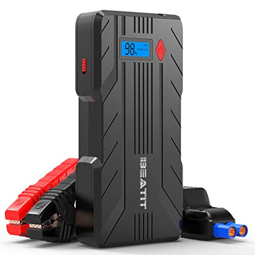 BEATIT 1200Amps QDSP 1200A (Up to 8.0L Gas or 6.0L Diesel Engines) 12V Portable Car Jump Starter Auto Battery Booster with Smart Jumper Cables B7 PRO