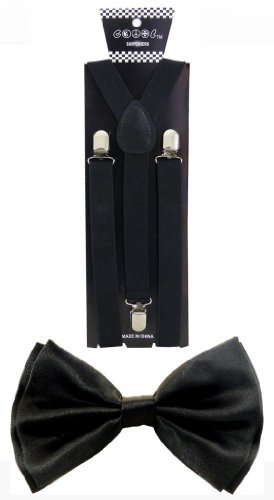 JTC Belt Men's Nice Shades Combo Pack Suspenders & Bow Ties