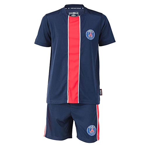 PSG Paris Saint-Germain Kids Soccer Jersey & Shorts - Blue (12 Years) (Paris Short)