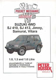 suzuki sj410 sj413 and vitara owner s workshop manual haynes owners rh amazon co uk 1995 Suzuki Sidekick Steering Wheel 1995 Suzuki Sidekick Service Manual
