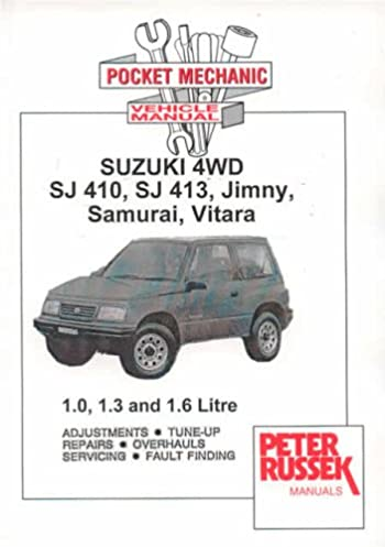 suzuki 4wd sj410 sj413 jimny samurai vitari workshop repair rh amazon co uk 2002 Suzuki Vitara Engine 2002 Suzuki Vitara Parts