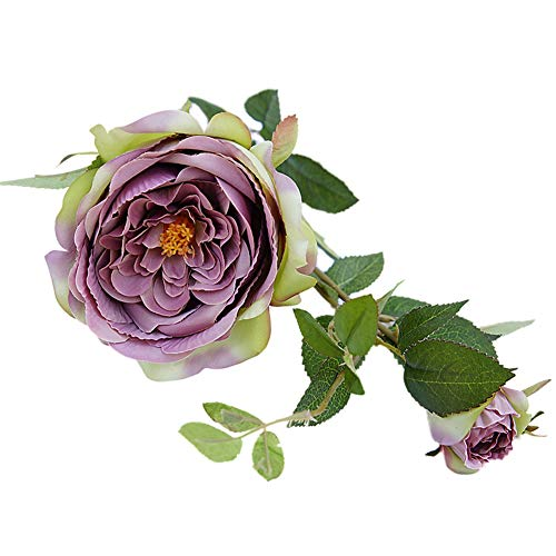 whatBYDs Artificial Fake Plant, 1Pc Artificial Flower Rose Garland Garden DIY Party Home Wedding Festival Decor - Cameo Brown