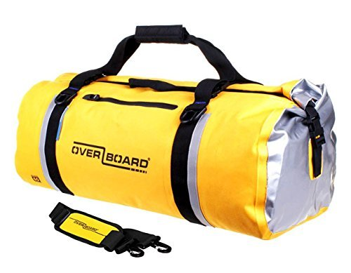Overboard Classic Waterproof Duffel Bag - Yellow, 60 Litres by Overboard