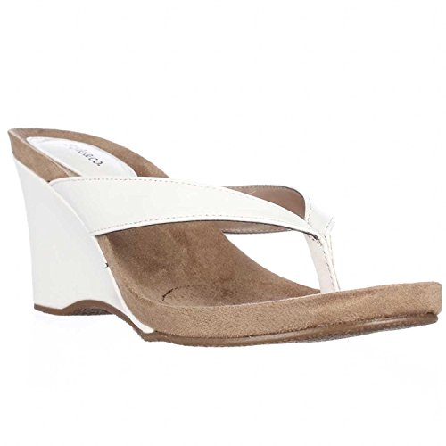 style and co white wedges - 7