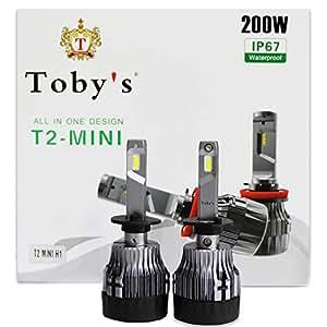T2 Mini H1 Headlight Ultra White Car Bulbs 200W
