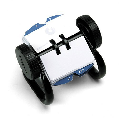 Rolodex : Open Rotary Card File Holds 250 1 3/4 x 3 1/4 Cards, Black -:- Sold as 2 Packs of - 1 - / - Total of 2 Each by Rolodex