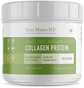Pure Grass Fed Collagen Peptides Protein Powder from The Myers Way Protocol – Supports Healthy Skin, Hair, Nails and Bone & Joint Health – Dietary Supplement 16 OZ, 38 Servings – from Dr. Amy Myers