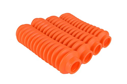 4 Shock Boots (Fluorescent Orange) Fits Most Shocks for Jeep Wrangler JK All Models