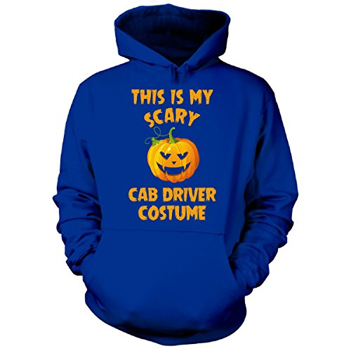 Cab Driver Costume (This Is My Scary Cab Driver Costume Halloween Gift - Hoodie Royal 4XL)