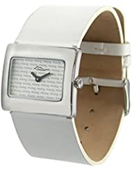 Moog Paris Supra Womens Watch with Silver Dial, White Strap in Genuine Leather - M41642-011