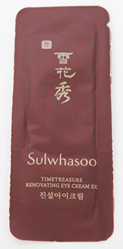 30X Sulwhasoo Sample Timetreasure Renovating Eye Cream 1 ml. Super Saver Than Normal Size, Exp., Date March,15th, 2019