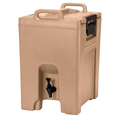 - Cambro UC1000157 10-1/2-gal Ultra Camtainer Beverage Carrier - Insulated, Coffee Beige