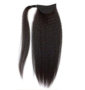 Amazon brazilian kinky straight yaki human hair ponytail brazilian kinky straight yaki human hair ponytail extensions natural black 12 24inch 12quot pmusecretfo Image collections