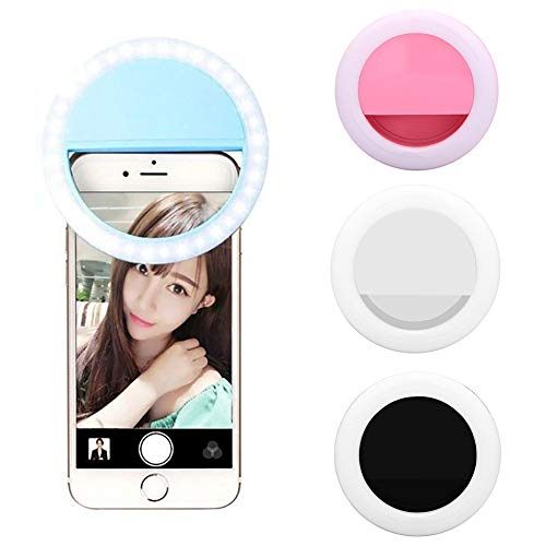 Togethluer Rechargeable USB Clip-On Ring Fill Light,Selfie Universal Mobile Phone LED Pink by Togethluer (Image #4)