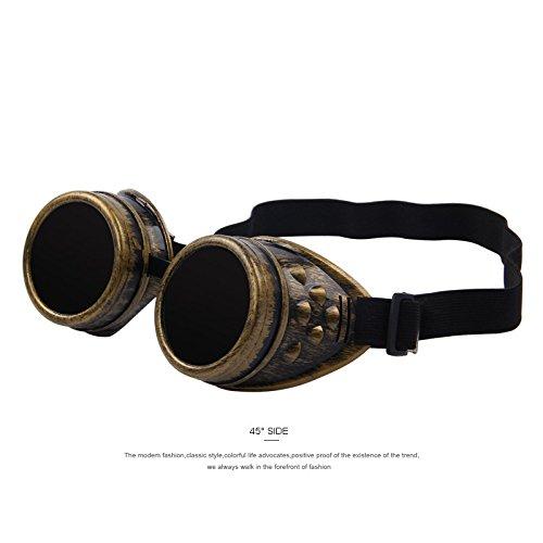 TIANLIANG04 Gafas de soldar, estilo victoriano gótico, estilo vintage, gótico: Amazon.es: Deportes y aire libre